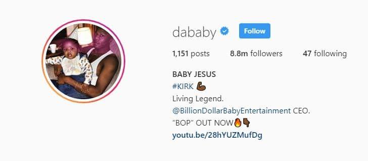 Dababy IG