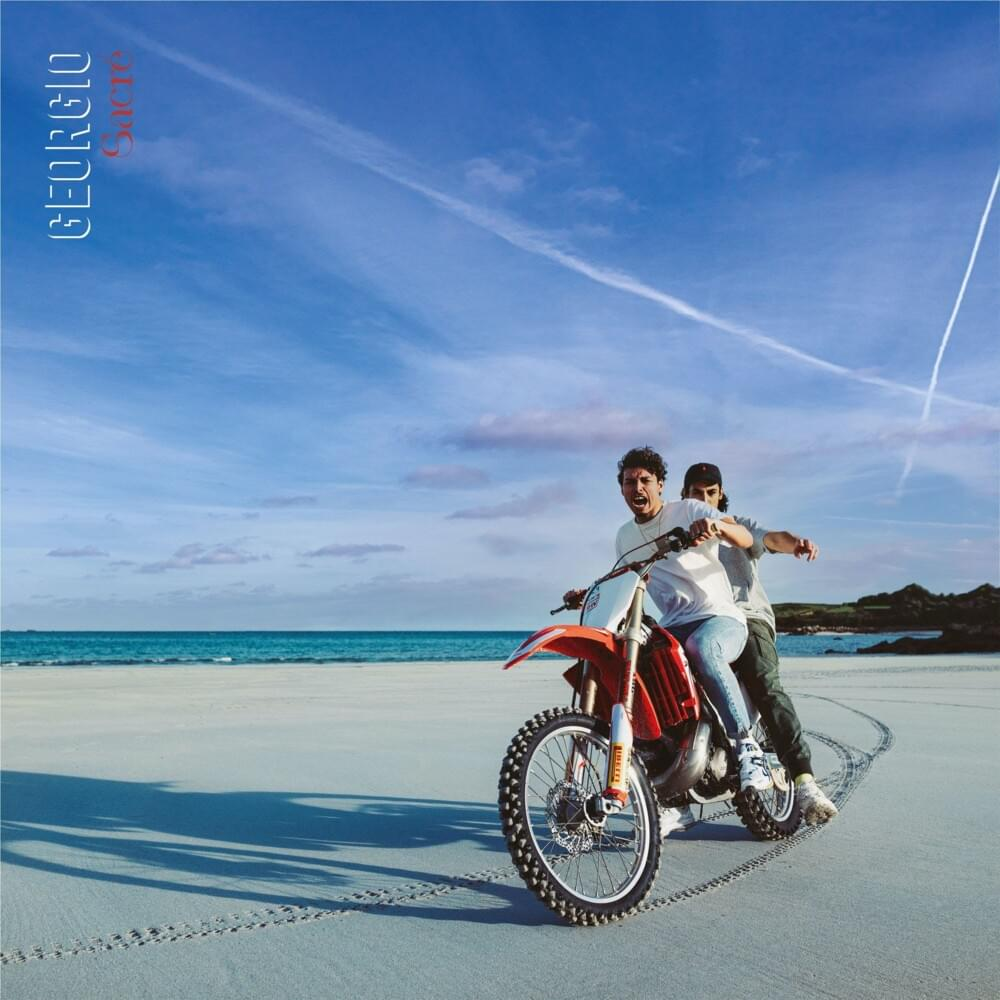 """Cover de l'album """"sacré"""" de Georgio"""